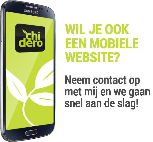 Uw website mobiel geschikt maken?
